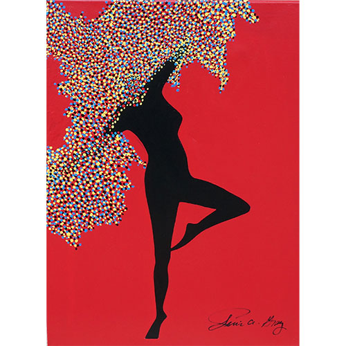 Jerri Gray Dancing Tree on Red CWP1391