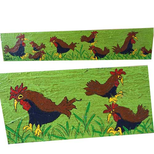John Sperry Chicken Family 30x6 WP1297