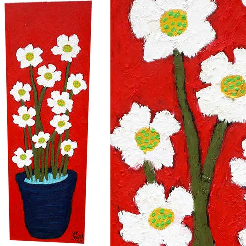 John Sperry 12x36 Flower Pot WP1444 SOLD