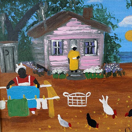 "Johnnie Griner ""Saturday Chores"" OP384 SOLD"