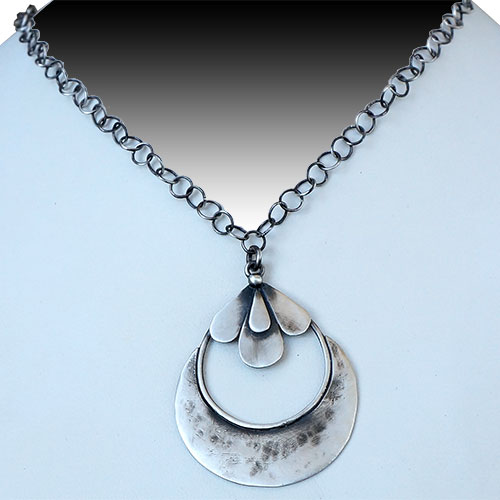 Julia Britell Necklace Teardrops on a Quarter JN1735