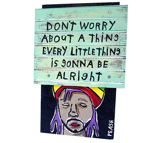 Ken Pease Don't Worry 12x17 WP1229 SOLD