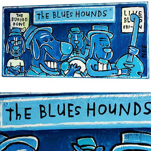 Ken Pease Blues Hounds 24x12 WP1238