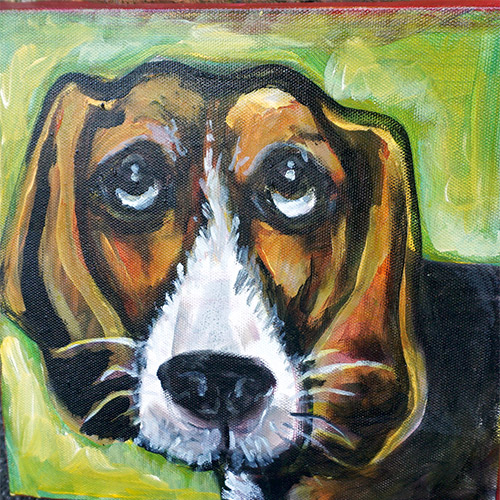 Kimberly Dawn 8x8 Dog OP499 SOLD
