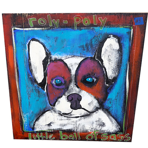 Kluttz Dog Roly Poly Dog 30x30 OP494