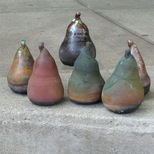Krause Pear Rattle Raku CP353