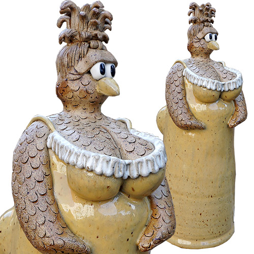 Kris London Chicken Breast Sculpture Yellow DP1356