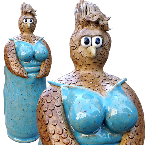 Kris London Chicken Breast Sculpture Blue DP1357