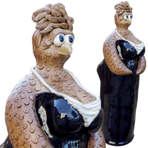Kris London Chicken Breast Sculpture Black DP1358