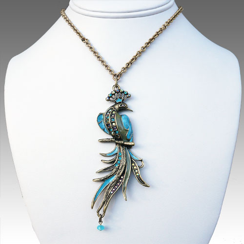 La Contessa Peacock Necklace JN1565