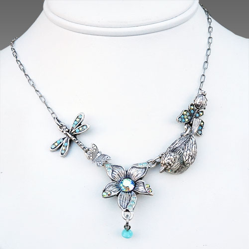La Contessa Flower & Bird Necklace JN1575 SOLD