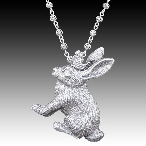 La Contessa Bunny Hip Hop Necklace JN1612