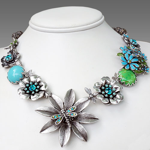 La Contessa Dragonfly Floribunda Necklace JN1651