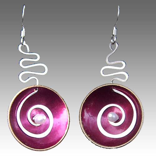 LeDanse Hypnotic Earrings Fushia JE2182