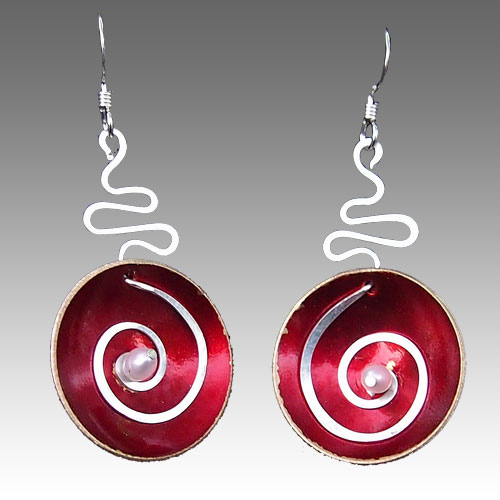 LeDanse Hypnotic Earrings Red JE2183