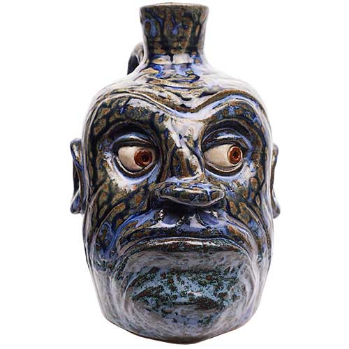 "Lolly Lynn Walton/David Meaders 8"" Face Jug DP1889 SOLD"