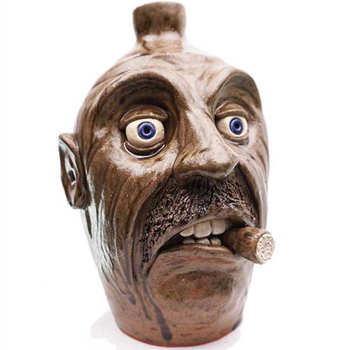 "Lolly Lynn Walton 10"" Cigar Face Jug DP1897"