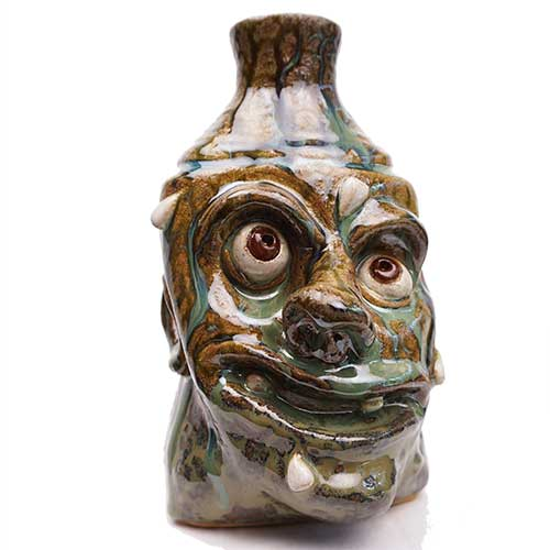 "Lolly Lynn Walton 7"" Face Jug w/Wayward Teeth DP1918"