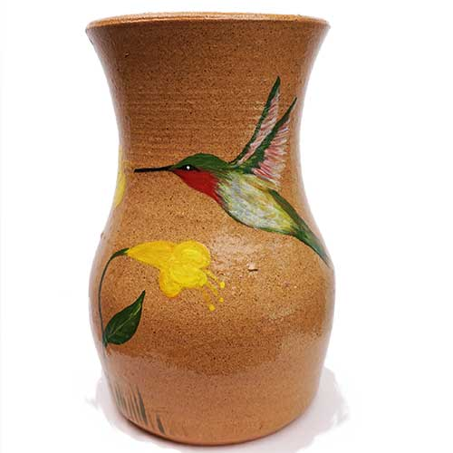 Lolly Lynn Walton/David Meaders Hummingbird Vase DP1922