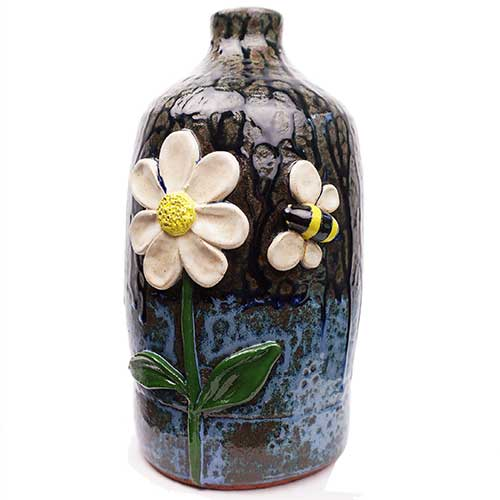 "Lolly Lynn Walton 10"" Flower & Bee Jug DP1923"