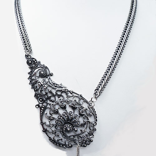 Clément Djossou Necklace Filigree Goutte JN1937