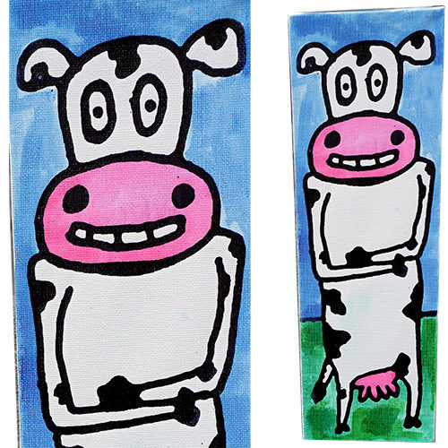 Valdes 12x4 Smiley - Bessie Cow CWP1529