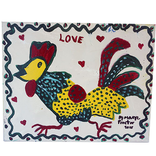 Mary Proctor 20x16 Love Rooster WP1204