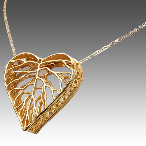 Mercedes Shaffer GF Necklace Dimensional Heart JN2160