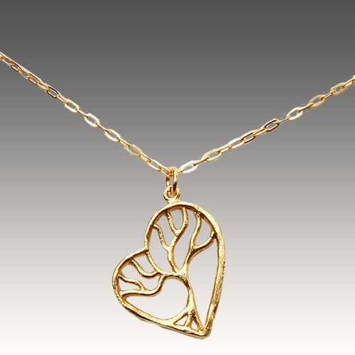 Mercedes Shaffer GF Necklace Tree of Life Heart JN2162
