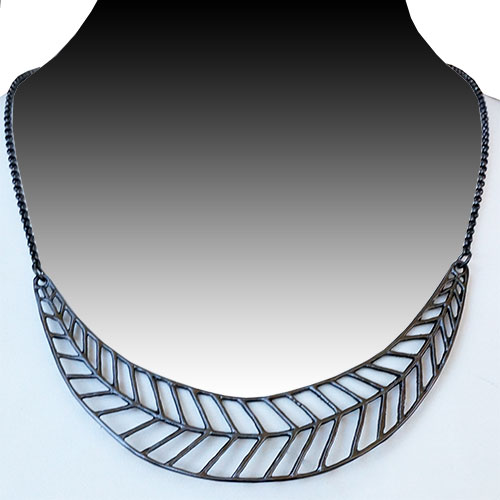 Mercedes Shaffer Necklace Feather Collar JN1719