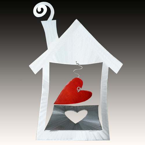 Metal Petal Home is Where You Hang Your Heart DF823 SOLD