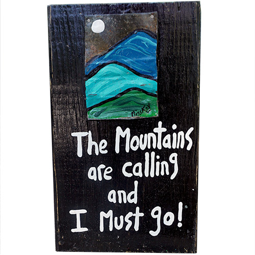 Miss Kay The Mountains Are Calling WP1076 SOLD