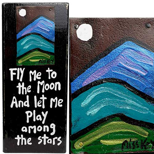 Miss Kay 5x12 Fly Me to the Moon WP1279 SOLD