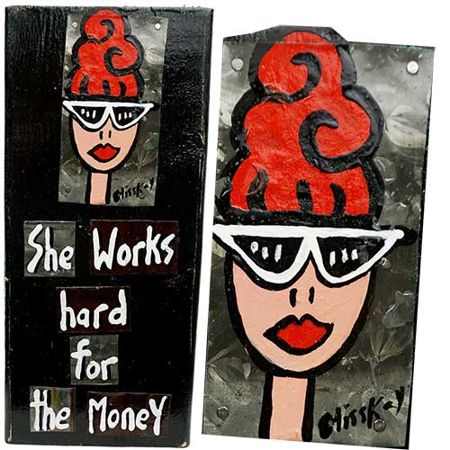 Miss Kay 5x12 She Works Hard WP1287 SOLD