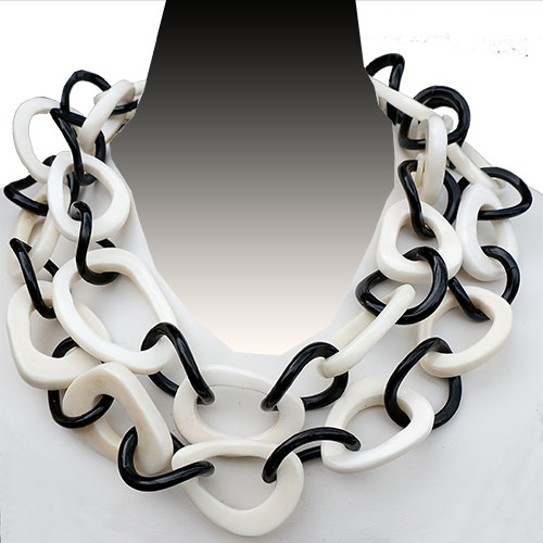 MooMoo Necklace Horn & Bone Links JN1825