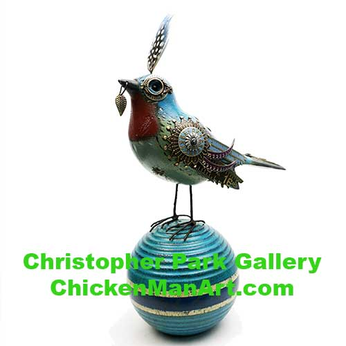Mullanium Purple Throated Chatterer on Ball BD820 SOLD