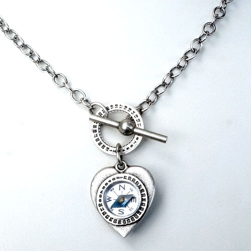 Mullanium Necklace Heart & Compass JN1171