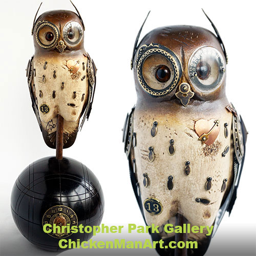 Mullanium Owl on Bocce Ball OW12 SOLD