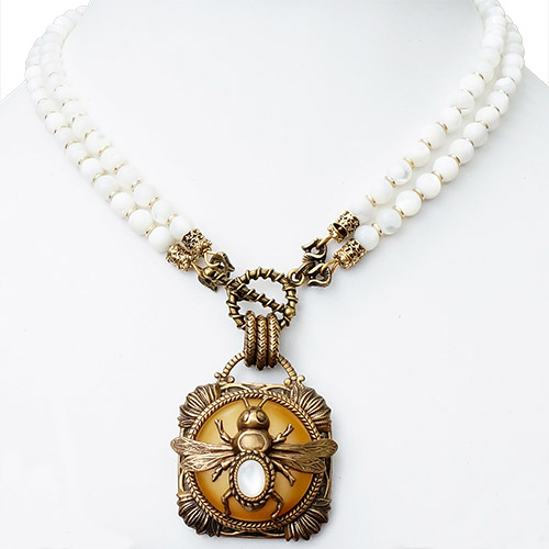 Patrice Necklace Bee on Bavarian Resin JN2133 SOLD