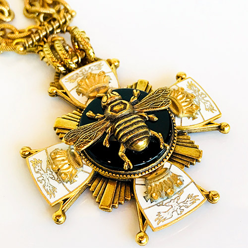 Patrice Necklace Bee on Black Onyx JN2553 SOLD