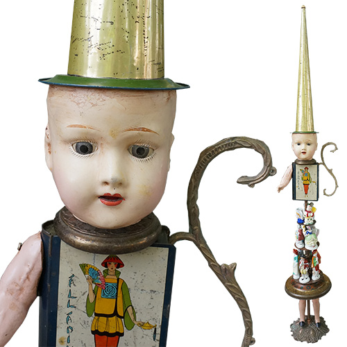 Finks Primitive Twig Totem Tiered Doll RD1318