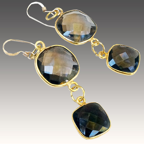 Sher Smokey Topaz Gold Fill Earrings JE3050