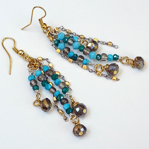 Sher Turquoise & Gold Fill Earrings JE3051