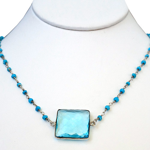 Sher Topaz & Turquoise Necklace JN2054