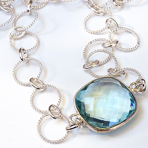Sher Topaz & Silver Necklace JN2055