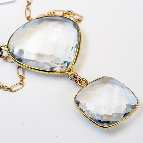 Sher Clear Quartz & Gold Fill Necklace JN2056