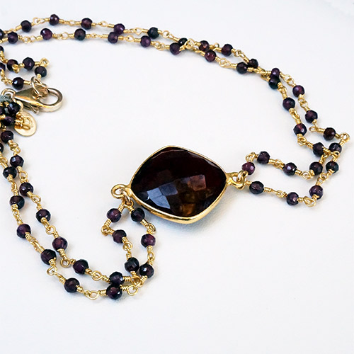 Sher Garnet Necklace JN2059 SOLD