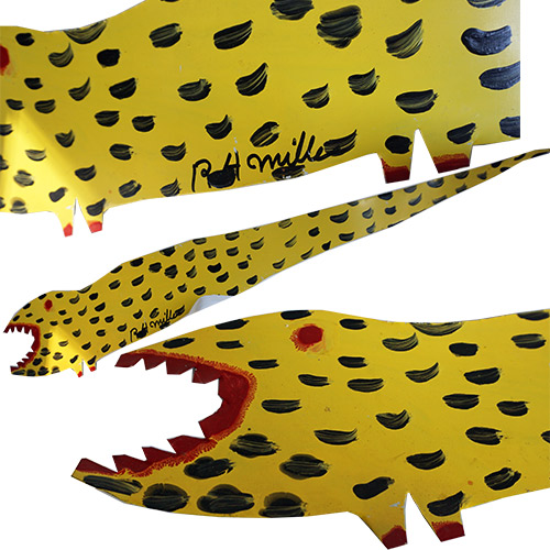 "RA Miller Lizard Yellow 46"" x 8"" OP357"
