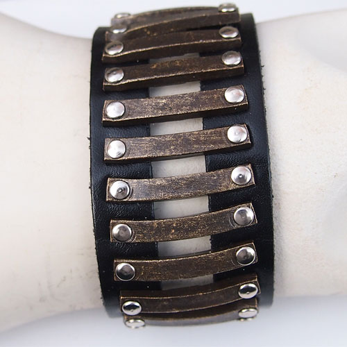 Rebel Designs Unisex Leather Bracelet JB466