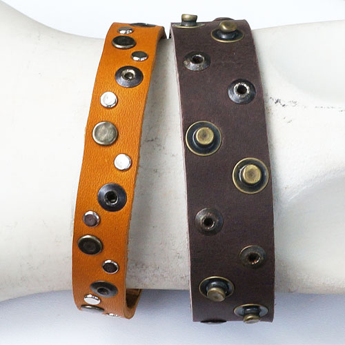 Rebel Designs Mens Leather Bracelet JB543